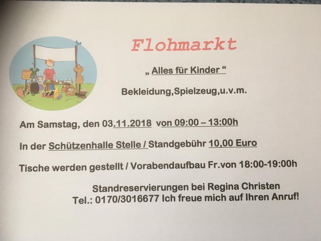 Flohmarkt für Kinder im Schützenhaus