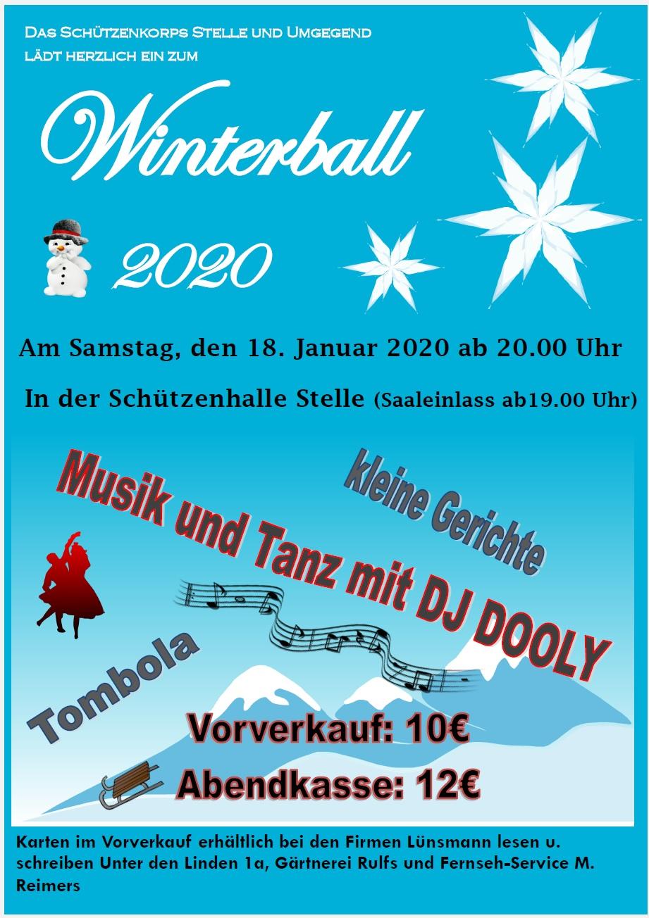 Einladung zum Winterball 2020